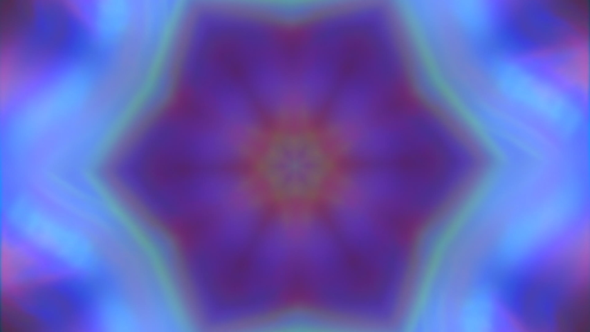 Charming kaleidoscope imitation light leak shimmering background. Looped animation. Suitable for broadcasting. | Shutterstock HD Video #1032785150