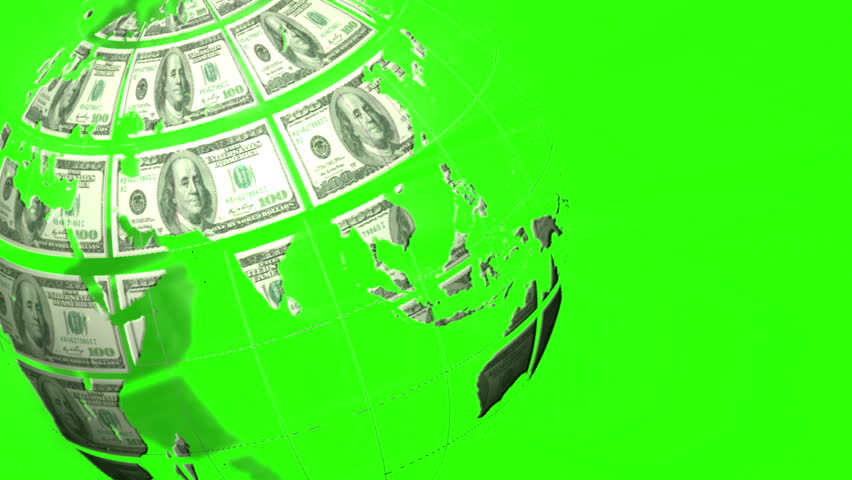 Digital animation of Earth made of dollars spinning | Shutterstock HD Video #10328240