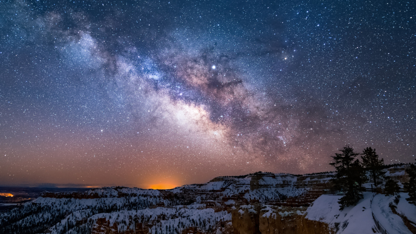 4K Time lapse of Mliky way over the Bryce Canyon, Utah, USA | Shutterstock HD Video #1032882170