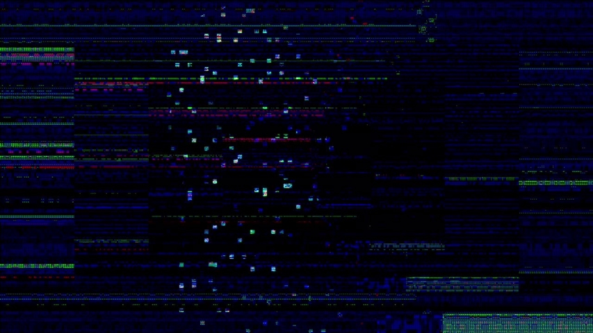 Digital pixel noise glitch art effect. Retro futurism 80s 90s dynamic wave style. Video signal damage with tv noise and old screen interference | Shutterstock HD Video #1033050710