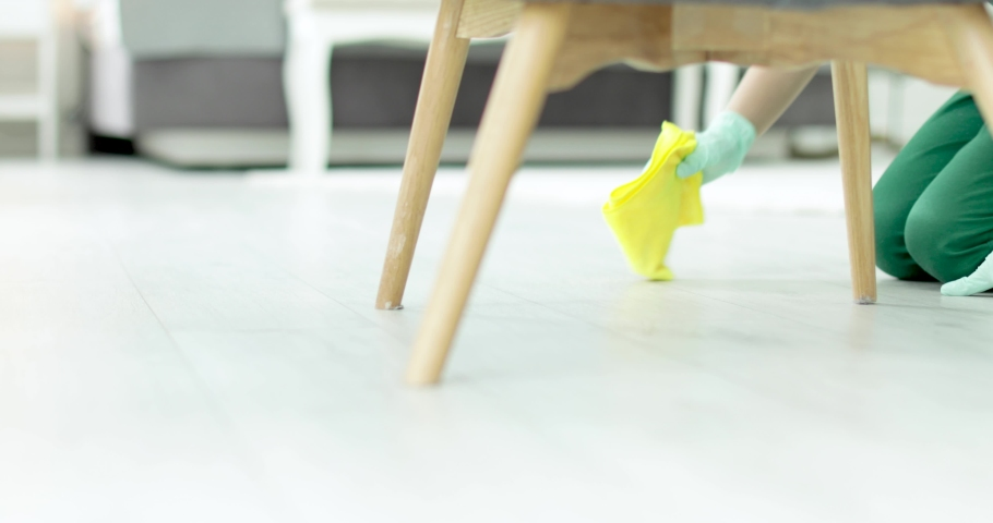 Professional janitor cleaning floor with rag indoors   | Shutterstock HD Video #1033301300