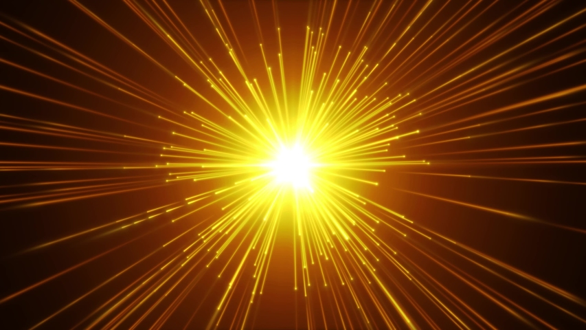 Fireworks Slow Motion Background With Shining Starburst/ 4k animation of a colorful abstract slow motion hyperspace shining starburst background moving backward, with optical lens flare and light beam | Shutterstock HD Video #1033368410