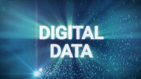 Seamless looping 3d animated digital maze with the word Digital Data in 4K resolution