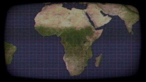 Tv satellite map africa