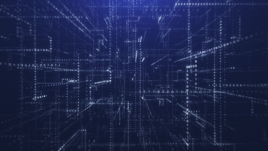 Blue Abstract Binary Code Background   Shutterstock HD Video #1034463590