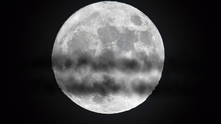 Incredible shot of fighter plane flying past full moon   Shutterstock HD Video #1034869550