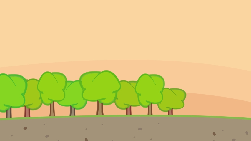 Animation Of Deforestration Process With Big Forestry Vehicle Producing Pollution And Turning Green Land Into City | Shutterstock HD Video #1035145820