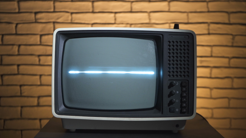 Video of retro tv with analog television | Shutterstock HD Video #1035165260