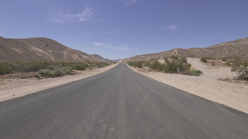 Driving Template Desert Road Mojave California Rear View Time Lapse  | Shutterstock HD Video #1035269750