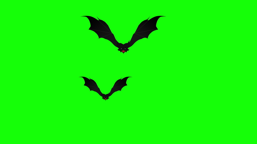 Swarm of spooky bats flying against green background. Halloween themed background, ready to use with any video or text element. Simply use it as a background video or as a video overlay.   Shutterstock HD Video #1035327410
