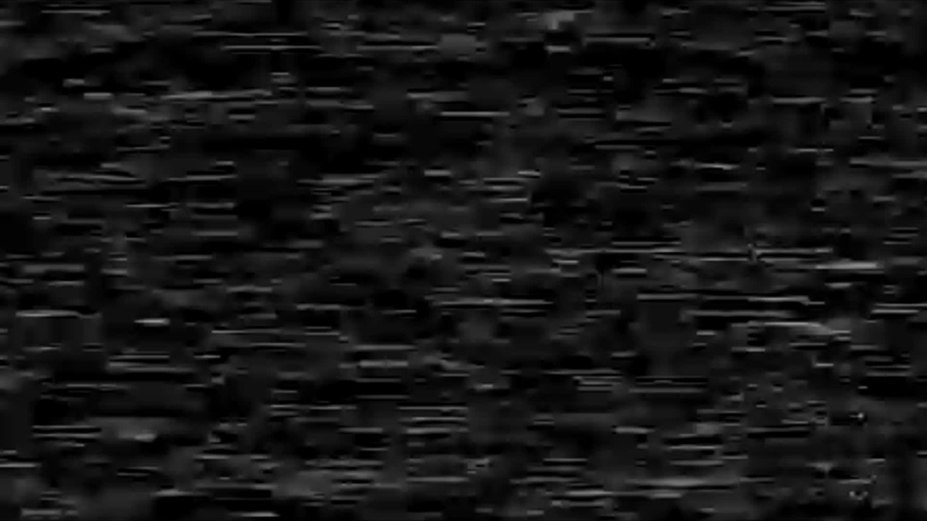 Static video noise glitch on a tv tape screen, vhs archival footage