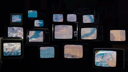 Saudi Arabia as Seen from Space, on Many 80s TVs. Elements of this Video furnished by NASA.
