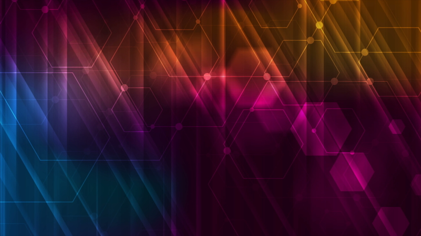 Abstract colorful glowing technology motion graphic design with hexagons. Neon geometric connection background. Video animation Ultra HD 4K 3840x2160 | Shutterstock HD Video #1035541730