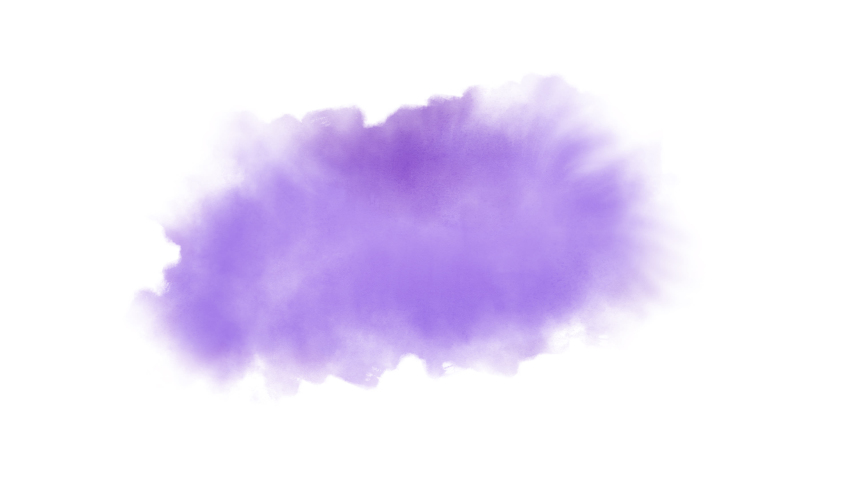 Watercolor Splash Hand Drawn Stain on White Background + Transparent Alpha Channel. Painting of a Purple Spot with Paint Streaks   Shutterstock HD Video #1035673700