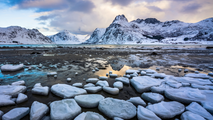 4K Timelapse of Lofoten islands in winter, Norway, Europe | Shutterstock HD Video #1035709880
