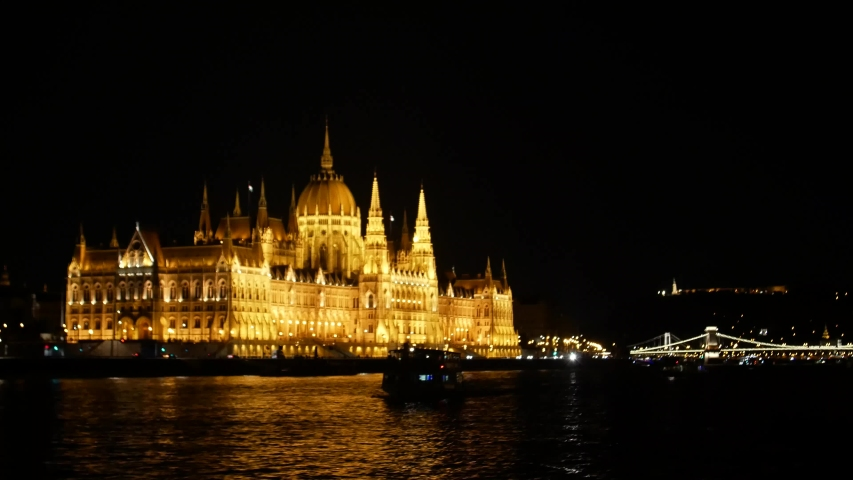 Budapest Night Parliament shooting in 4k format | Shutterstock HD Video #1035910070