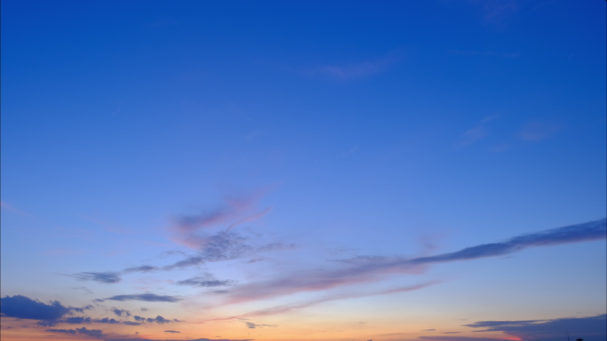 4K Time lapse, beautiful sky with clouds background, Sky with clouds weather nature cloud blue, Blue sky with clouds and sun, Clouds At Sunrise.   Shutterstock HD Video #1035964130