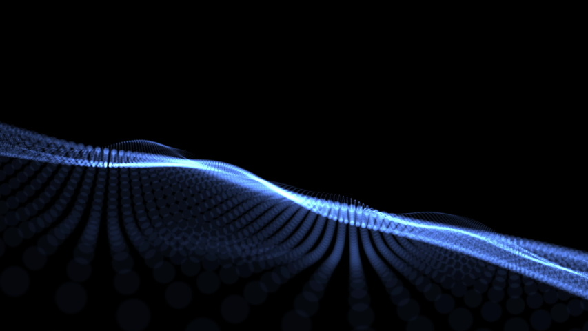 Abstract wave background dark blue particles blurred animation on black background , Technology concept. | Shutterstock HD Video #1036078340