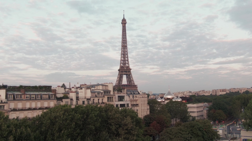 Eiffel Tower in Paris, France | Shutterstock HD Video #1036272170