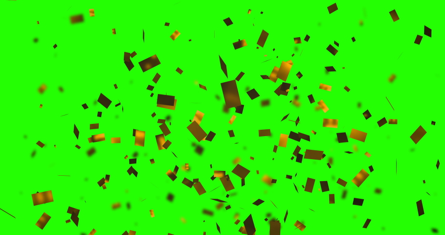 Explosion from bottom gold sparkle glitter foil confetti, animation on chroma key green screen background, happy new year holiday and festive fun concept with alpha | Shutterstock HD Video #1036481840