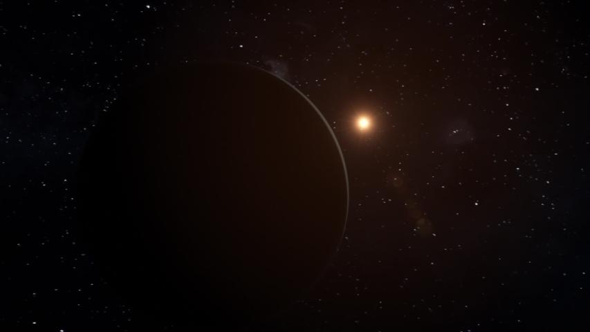 Realistic CGI Uranus Planet Flyby. #1036856600