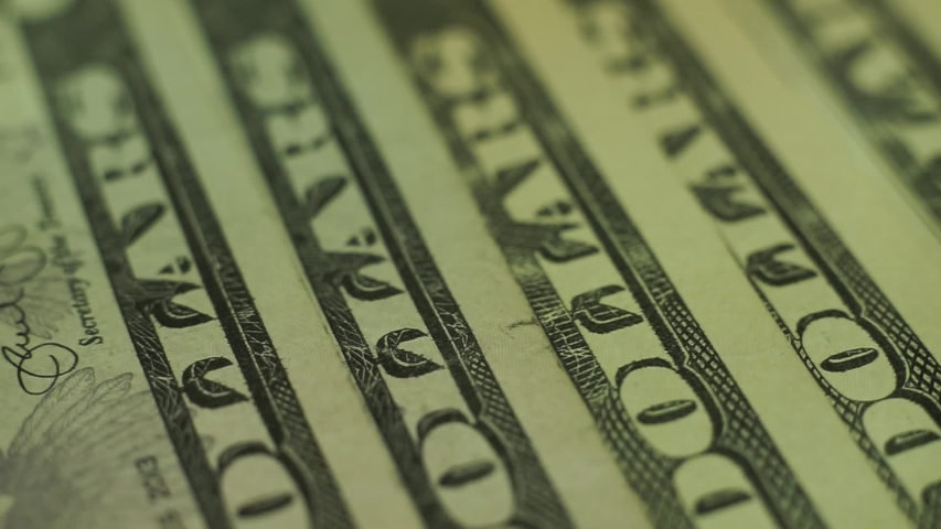 Dollars Close up Concept. American Dollars Cash Money background. Macro view. Rotation 360 degrees. | Shutterstock HD Video #1036935260