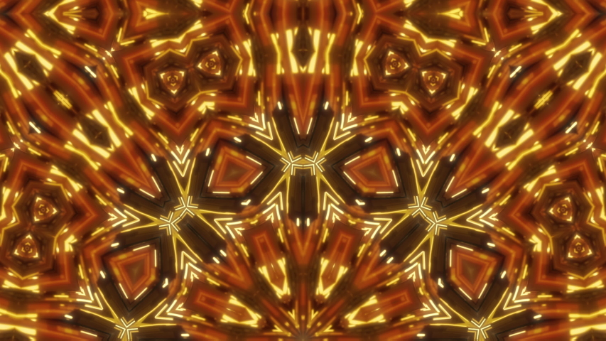 Golden awards kaleidoscope seamless animation for fashion and awards show, events, music videos, LED screens, video-mapping, stage design and projection show. | Shutterstock HD Video #1037499260
