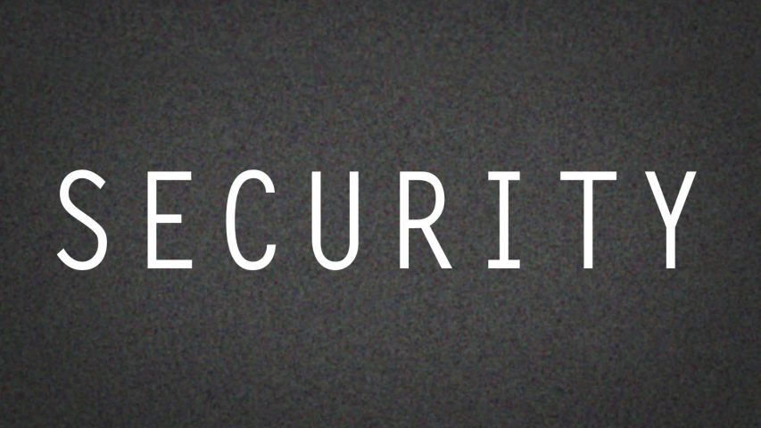 Motion Graphic of Security text on grainy screen with glitches  for Ad or Instructional Video  | Shutterstock HD Video #1037510090