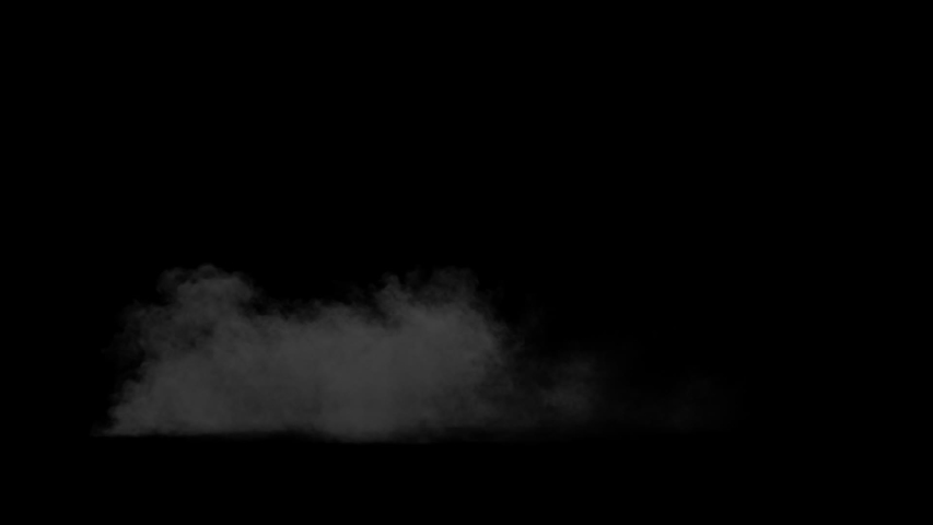 Fiery explosion with a rising cloud of smoke on a black background alpha channel   Shutterstock HD Video #1038172970