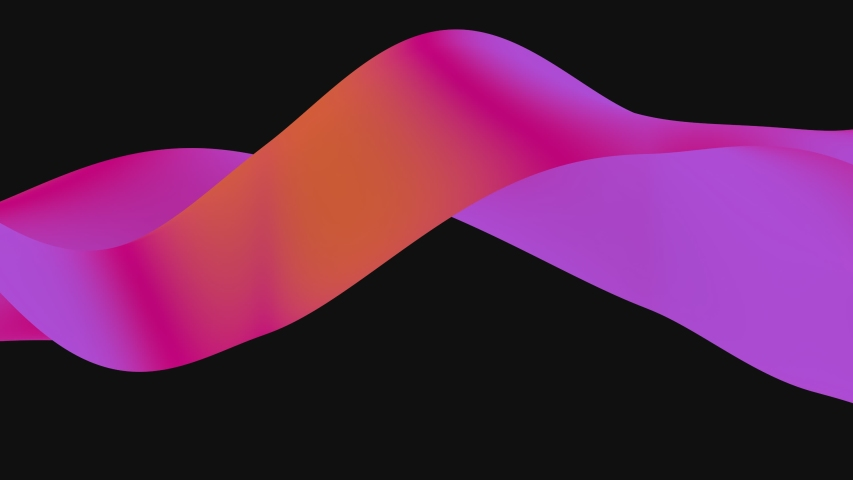 Looped animation. Abstract colorful wavy background in bright rainbow colors. Modern colorful wallpaper. 3d rendering. | Shutterstock HD Video #1038466010