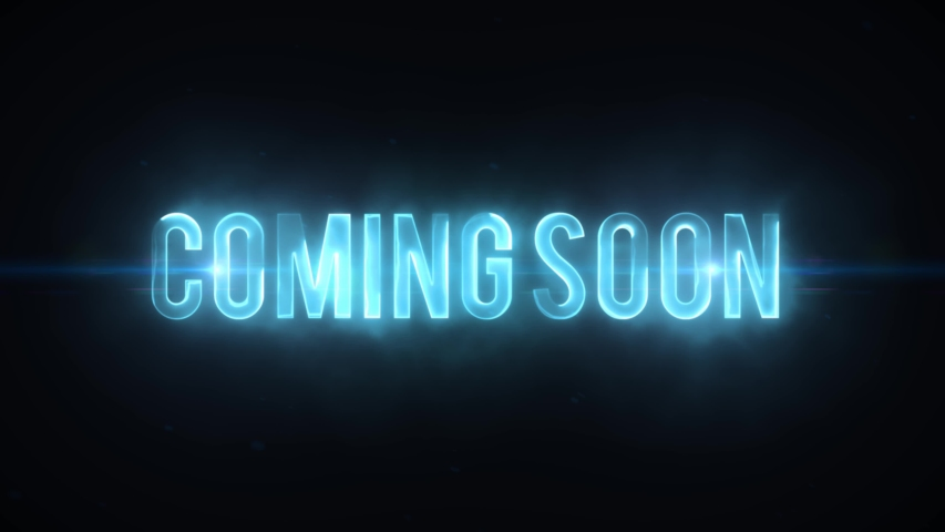 Scifi Movie Trailer Coming Soon Text Reveal/ 4k scifi movie style background with coming soon lighting text reveal like for cinema trailer | Shutterstock HD Video #1038547460