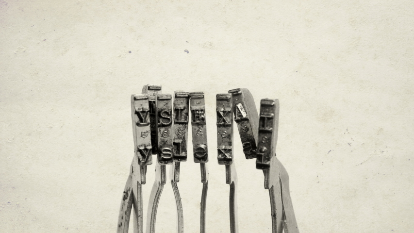 The word DYSLEXIa with old typewriter hammers  | Shutterstock HD Video #1038771350