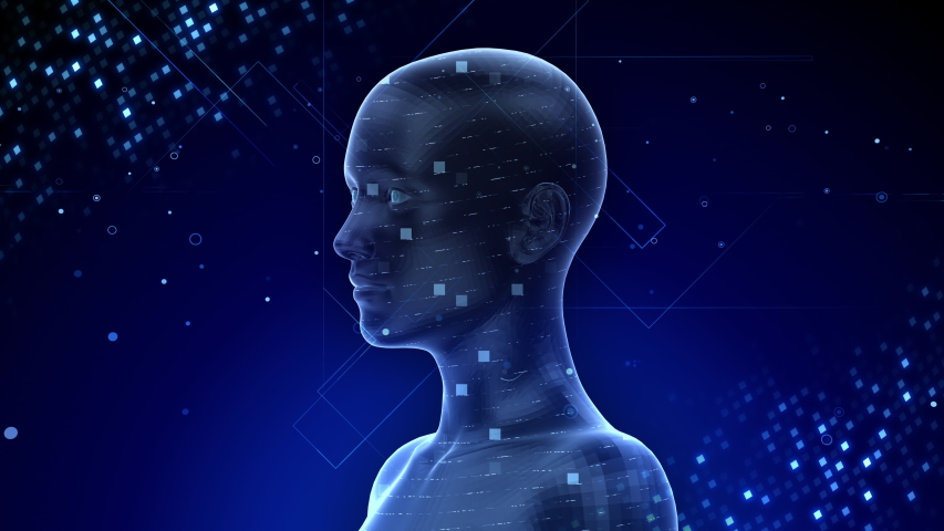 AI, artificial intelligence digital network technologies concepts Background. | Shutterstock HD Video #1038901700