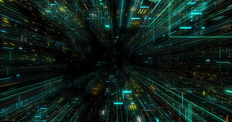 Seamless fly through of abstract circuitry with digital grid background, Data deep learning computer machine. AI artificial intelligence and ML machine learning concept. loop, 3D render | Shutterstock HD Video #1039053170