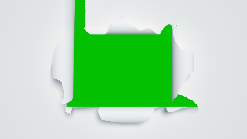 Beautiful Paper Sheets Tearing from the Center Opening the Screen Transition. Two Versions. 3d Animation of Abstract Paper Breaking Through on Green Screen Alpha Mask. 4k Ultra HD 3840x2160. | Shutterstock HD Video #1039054790