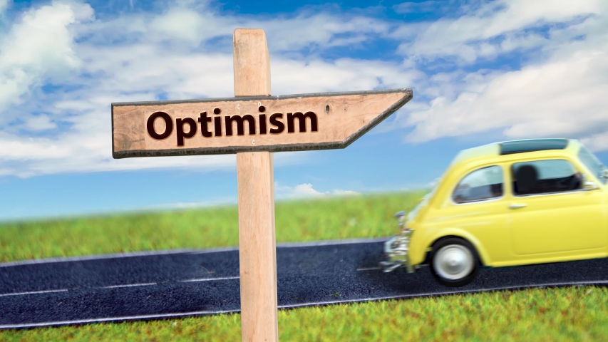 Street Sign the Way to Optimism  | Shutterstock HD Video #1039108550