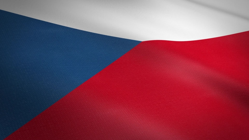 Czech Republic Flag Closeup Loop - waving flag with highly detailed fabric texture seamless loop video. Seamless loop with highly detailed fabric texture. Loop ready in HD resolution 1080p 60fps | Shutterstock HD Video #1039234160