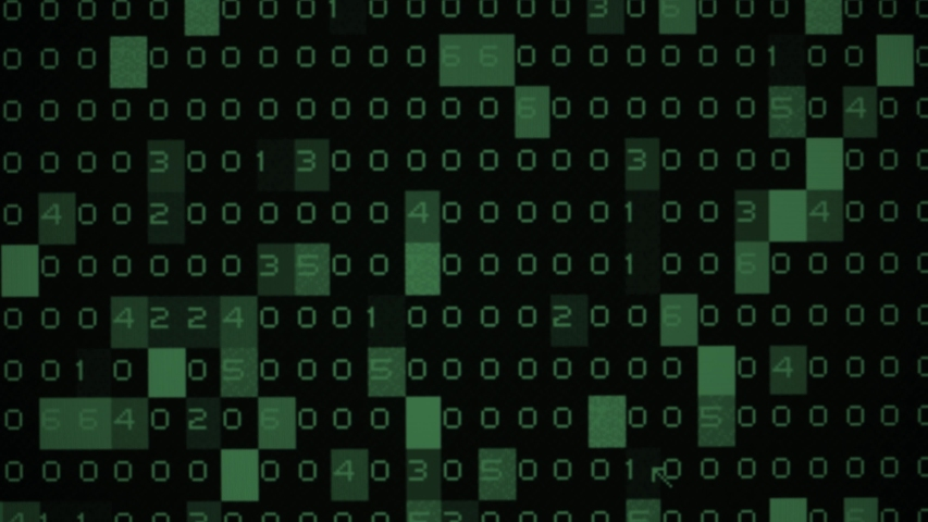 Random Moving numbers overlays. Green numbers go on a monitor. Binary code. | Shutterstock HD Video #1039856120