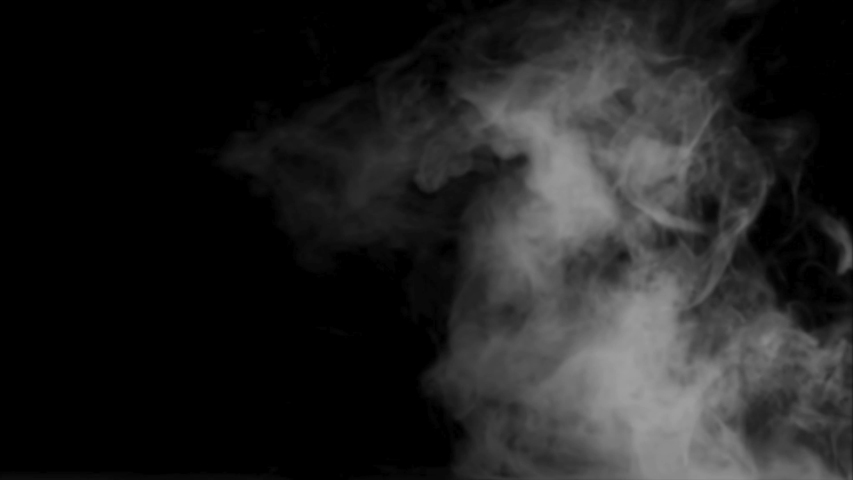 Abstract smoke cloud. White smoke in slow motion on black background. On my profile you will find all types of smoke. 4K resolution. #1040318270