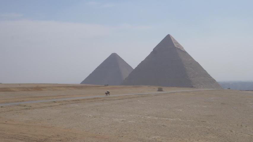 Beautiful Scenery Of The Giza Pyramids.   Shutterstock HD Video #1040593490