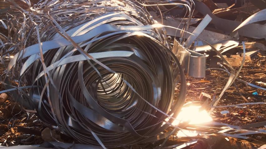 Steel junk yard metal waste | Shutterstock HD Video #1040684390