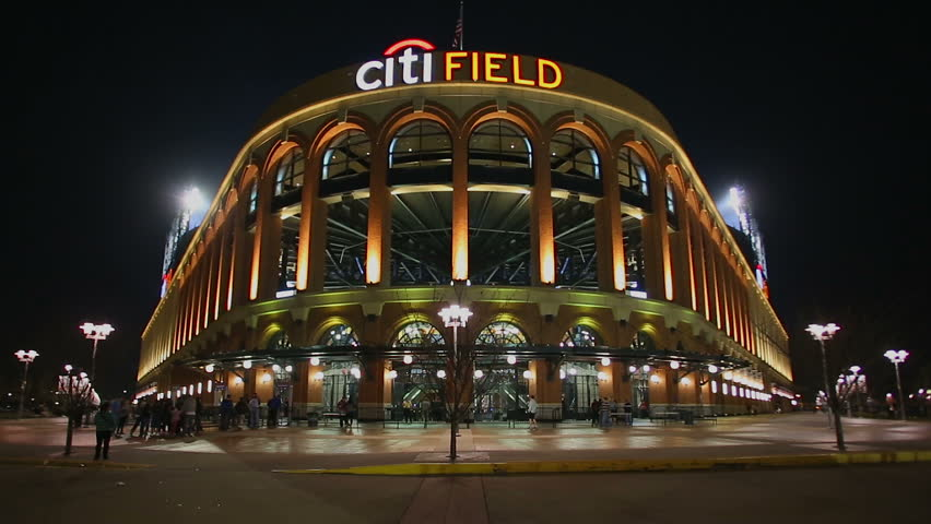 NEW YORK - APRIL 18: Major League Baseball National League team New York Mets fans enter Citi Field on April 18, 2015 in New York.