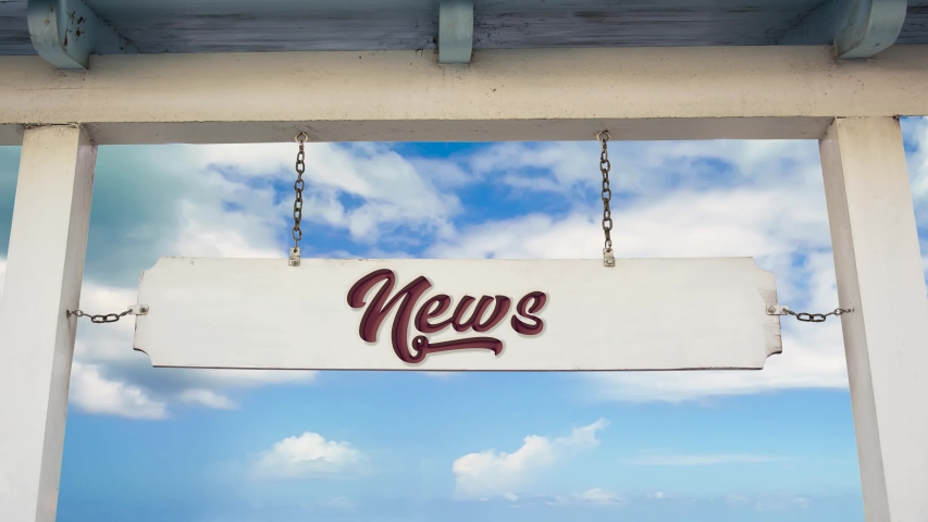 Street Sign the Way to News | Shutterstock HD Video #1040962280