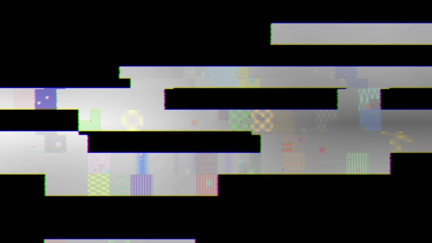 Animated video broken screen with glitch effect | Shutterstock HD Video #1041016940