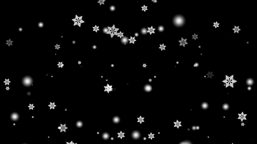 Winter falling white snowflakes footage on black background. | Shutterstock HD Video #1041081820