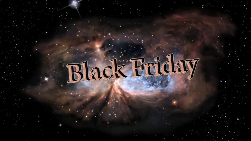 Black Friday 3d text apears from Star Forming Region | Shutterstock HD Video #1041252580