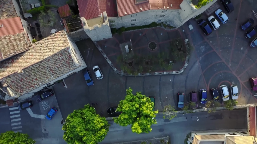 Frosinone/italy   Aerial video from Vico nel Lazio     taken by drone camera | Shutterstock HD Video #1041425380