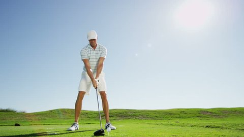 Golfer Caucasian Male Golf Sport Competition Course Grass Practice Travel