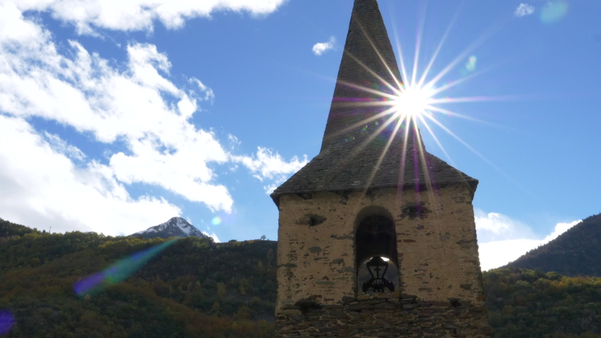 Old church with the sun backlit | Shutterstock HD Video #1041920890