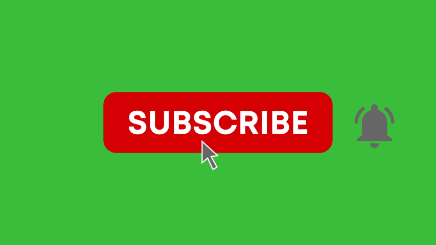 Subscribe Button and Bell Notification. Animation of Social Network. Motion Graphics. Transparent Background | Shutterstock HD Video #1041986050